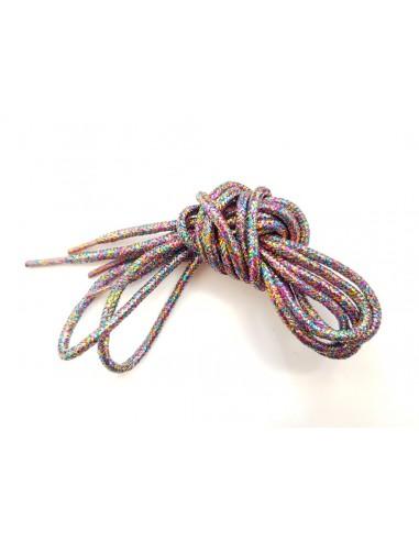 Veters glitter multicolour rond 110cm