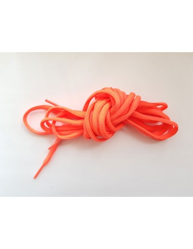 Veters neon-oranjeroze ovaal - 6mm - 220cm